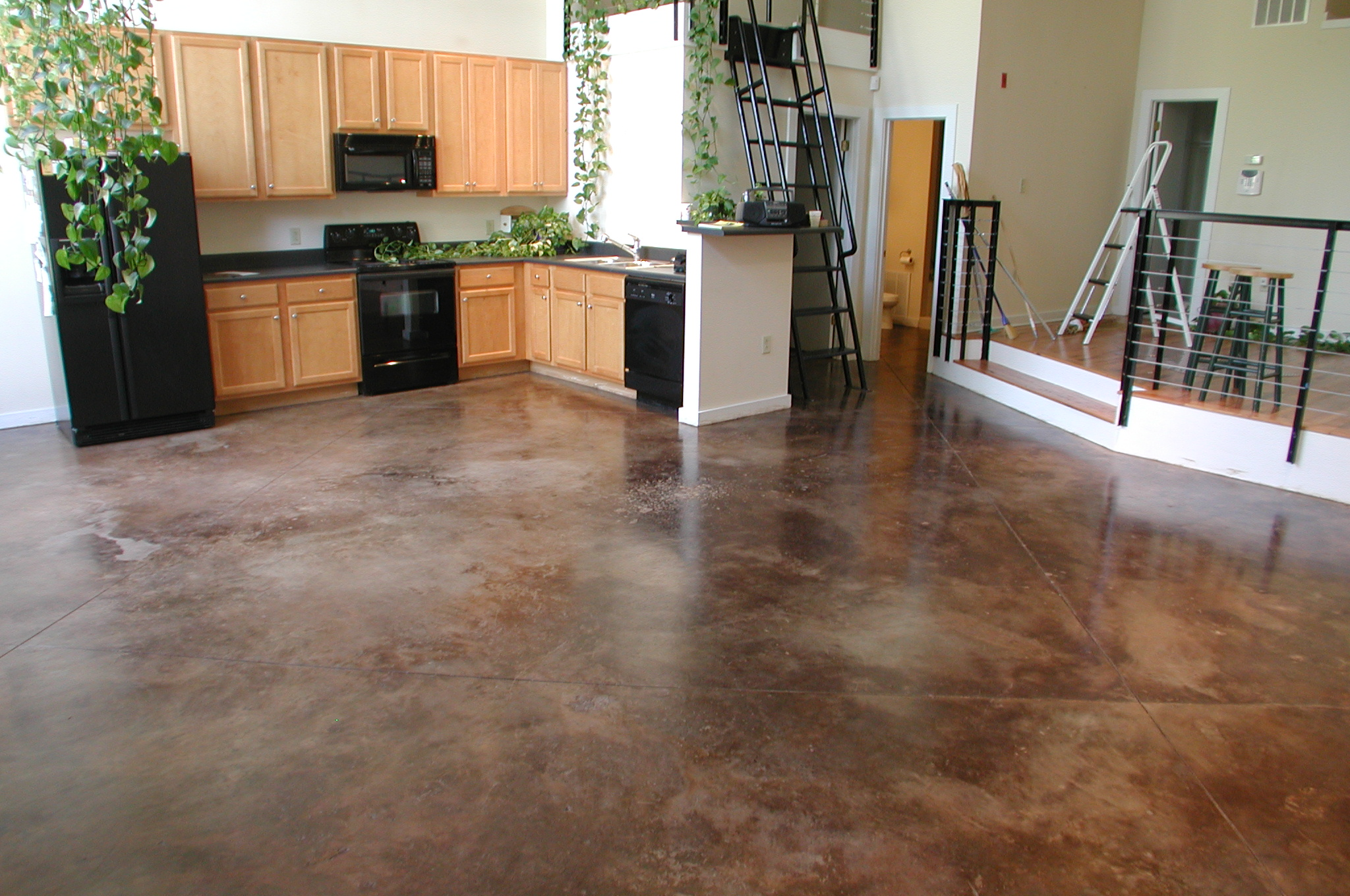 Majestic refaced concrete home for Concrete floors in house
